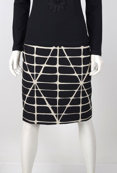 Badoo 1750800 Jacquard Skirt BLACK/WHITE