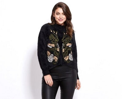 Holmes Fallon LS115 Embroidered Pullover BLACK