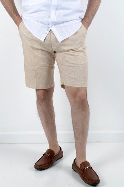 BOB SPEARS STRETCH LINEN SHORT BEIGE