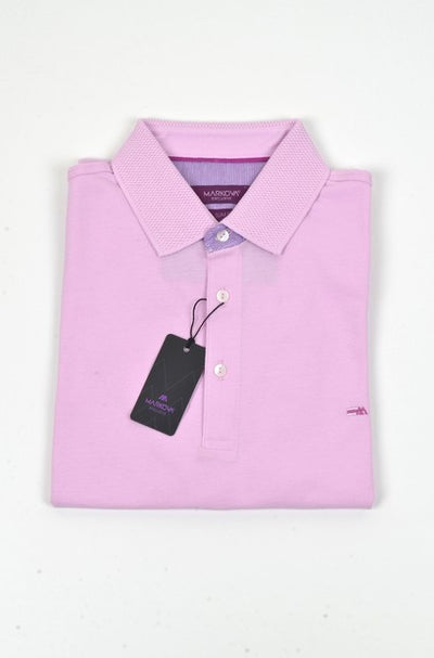 MARKOVA 171 SHORT SLEEVE POLO TOP PINK
