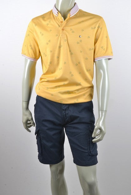 MARKOVA 3866 SHORT SLEEVE POLO TOP LEMON