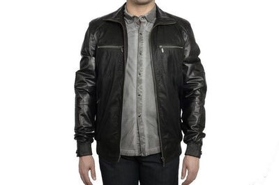 DERICCI LAMBSKIN LEATHER JACKET BLACK