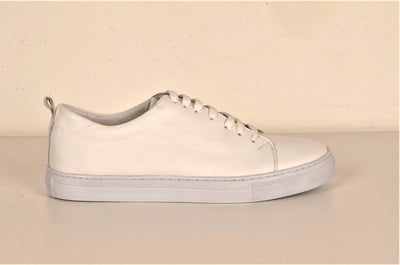 LAFENI 01 LEATHER LACE UP SNEAKER WHITE