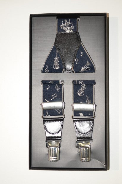 P&S MICHAEL 107 MUSICAL CLIP BRACES NAVY