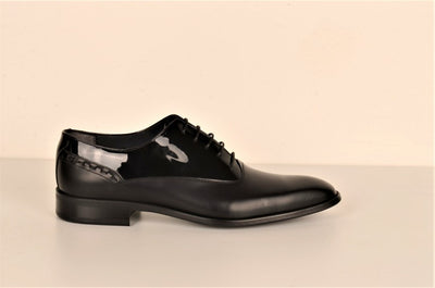 LAFENI 3688 2TONE LACE UP SHOE BLACK