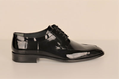 LAFENI 801 LACE UP PATENT SHOE BLACK