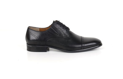 Psm Black Leather Oxford