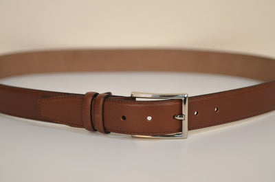 PSM 2107 32MM LEATHER BELT TAN