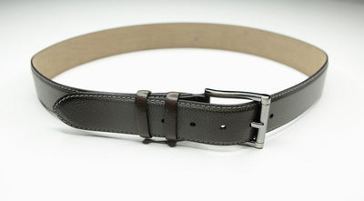 PSM Grey Pebble Leather Belt