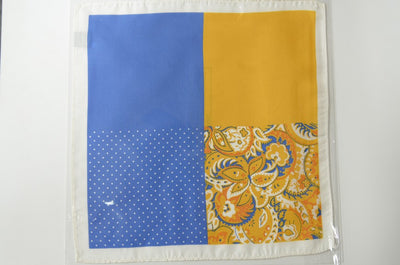 4 Pattern Silk Pocket Square GOLD