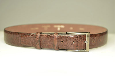P&S MICHAEL 32MM LEATHER BELT BROWN