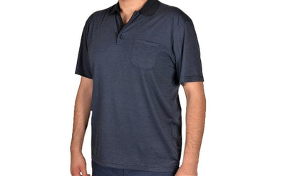 BENSU 19315 SS POLO TOP BLUE