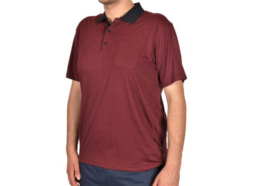 BENSU 19315 SS POLO TOP BORDO