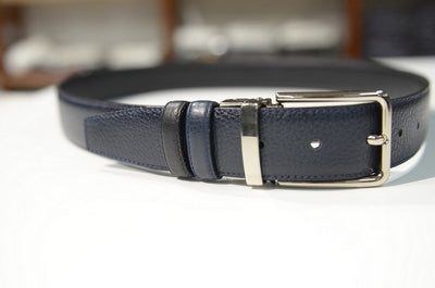 PSM Panel Leather Belt BLACK