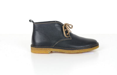 DANACI 1092 LACED LEATHER BOOT BLACK