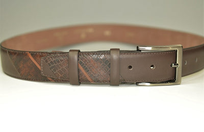 P&S MICHAEL 32MM LEATHER BELT MOCCA