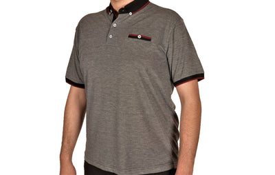 BENSU 170151S SS POLO TOP BLACK