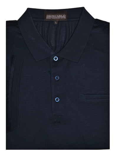 DION CARLO 1333 SHORT SLEEVE POLO TOP NAVY