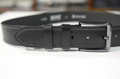 BOND 622 LEATHER BELT BLACK