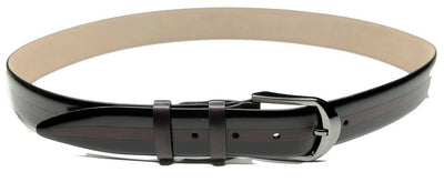 P&S MICHAEL 38MM LEATHER BELT BORDO