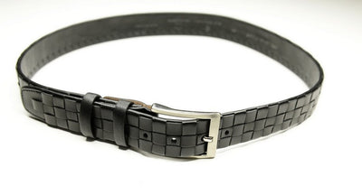PSM Woven Leather Belt BLACK