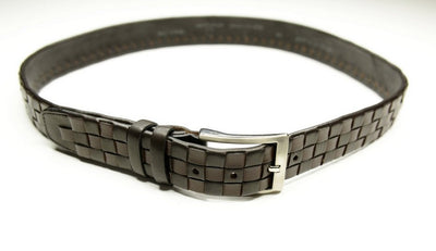 PSM Woven Leather Belt BROWN
