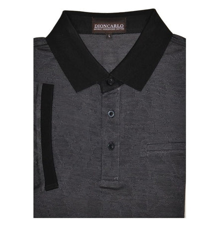 DION CARLO 1450 SHORT SLEEVE POLO TOP CHARCOAL