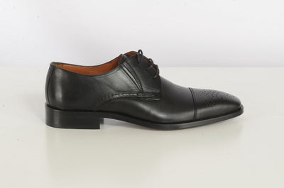 Danaci Black Leather Derby