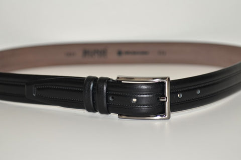 BOND 1052 LEATHER BELT BLACK