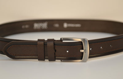 BOND 7010 LEATHER BELT BROWN