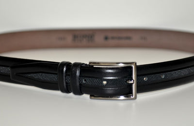 BOND 1035 LEATHER BELT BLACK