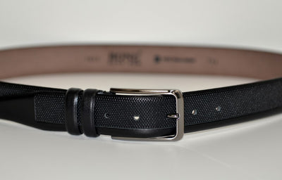 BOND 10033 LEATHER BELT BLACK