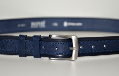 BOND 41861 LEATHER BELT BLUE