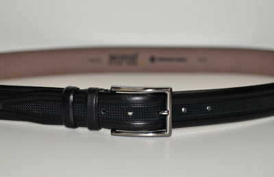 BOND 1023 LEATHER BELT BLACK