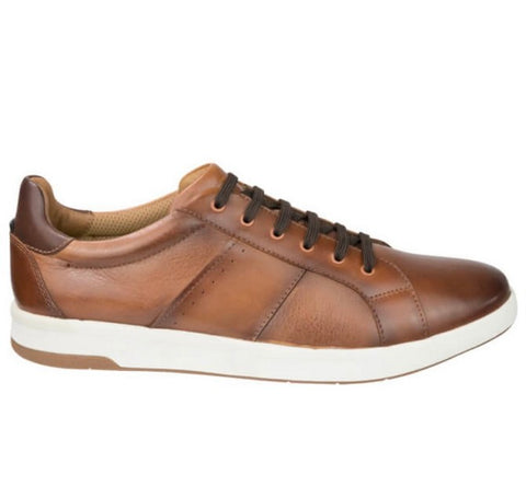 FLORSHEIM CROSSOVER LACE UP CASUAL COGNAC