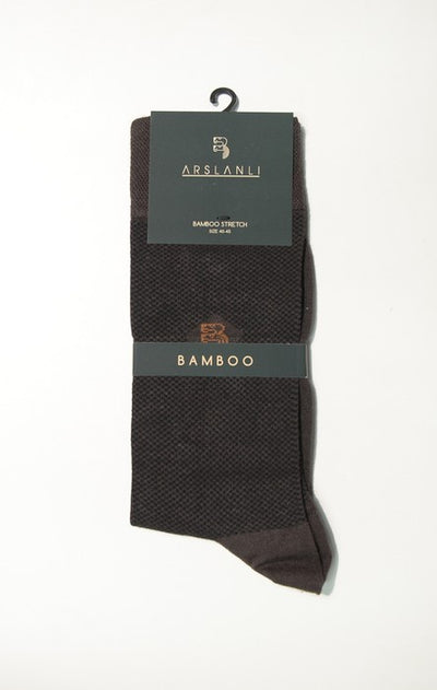 ARSLANLI AS980017 BAMBOO SOX BROWN