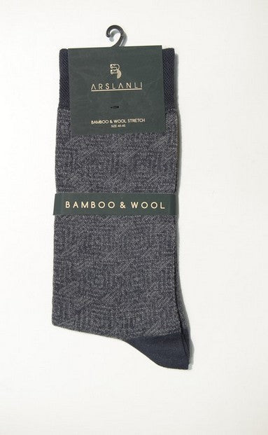ARSLANLI AS980048 WOOL SOX CHARCOAL