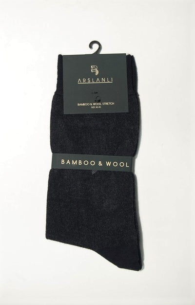 ARSLANLI AS980086 WOOL SOX BLACK