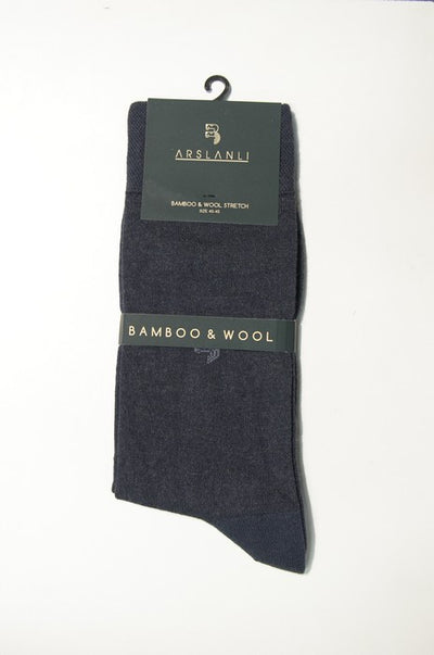 ARSLANLI AS980086 WOOL SOX CHARCOAL