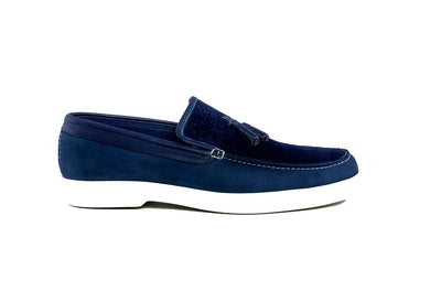 Rich & Famous Tassle Moccasin NAVY