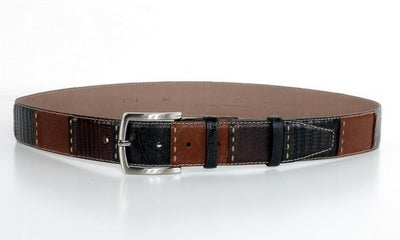 P&S MICHAEL 38MM LEATHER BELT MULTI COLOUR