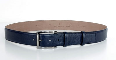 PSM 4244 38MM LEATHER BELT NAVY