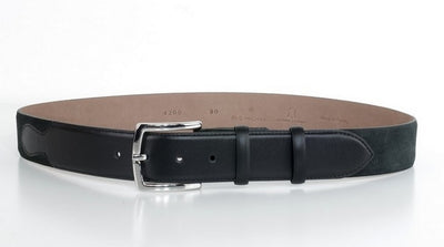 P&S MICHAEL 38MM LEATHER BELT CHARCOAL