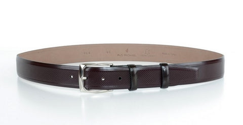 P&S MICHAEL 32MM LEATHER BELT BORDO