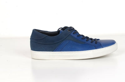 RIVALI 7580 NUBUCK LEATHER LACE UP SNEAKER NAVY