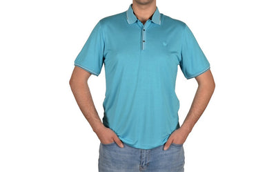 KERASUS 14049 SS POLO TOP TURQUOISE