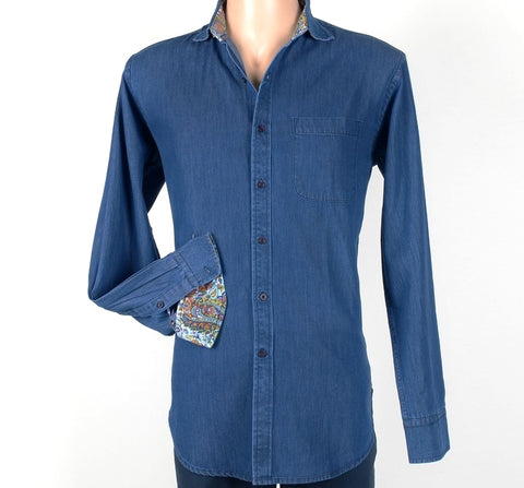 DAVID SMITH 2855 DENIM SHIRT BLUE