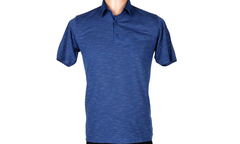 BENSU SHORT SLEEVE POLO TOP BLUE