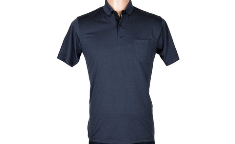 BENSU 170190 SS POLO TOP NAVY