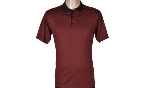 BENSU SHORT SLEEVE POLO TOP BORDO